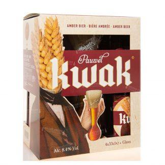 Pack Kwak regalo 4x33cl copa